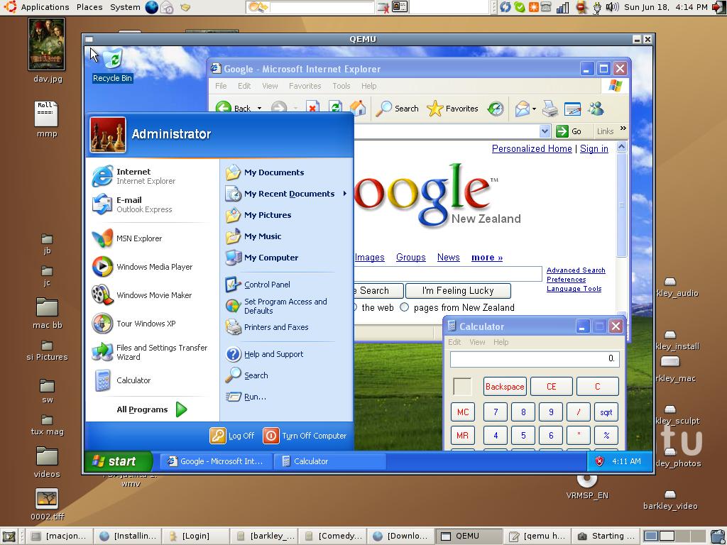 Mac On Stuff: How to run Windows XP under Ubuntu Dapper