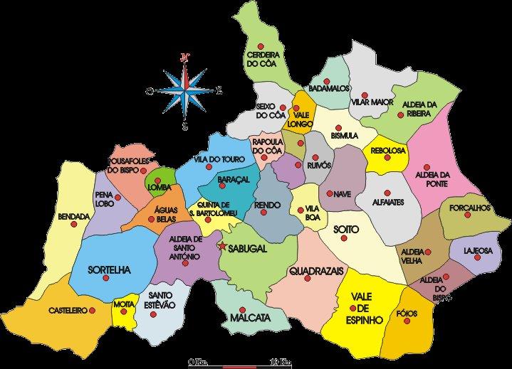 sabugal mapa M a l c a t a . n e t: Mapa do Concelho de Sabugal sabugal mapa