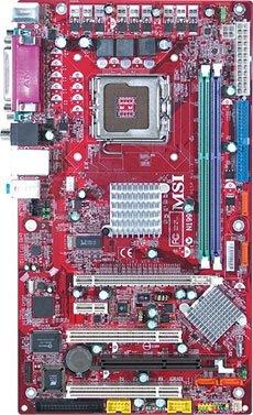Msi 915pl neo-v motherboard atx lga775 socket i915pl.