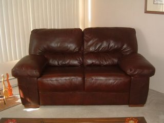 Furniture Sale Contemporary Leather Loveseat Amp Two Pier