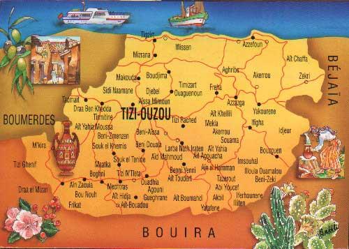 Kabylie Carte Geographique.Kabylie Zekri Carte Geographique De Tizi Ouzou
