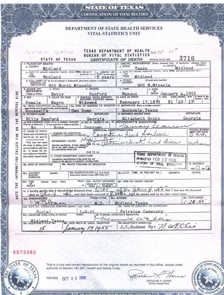 death certificate state of georgia