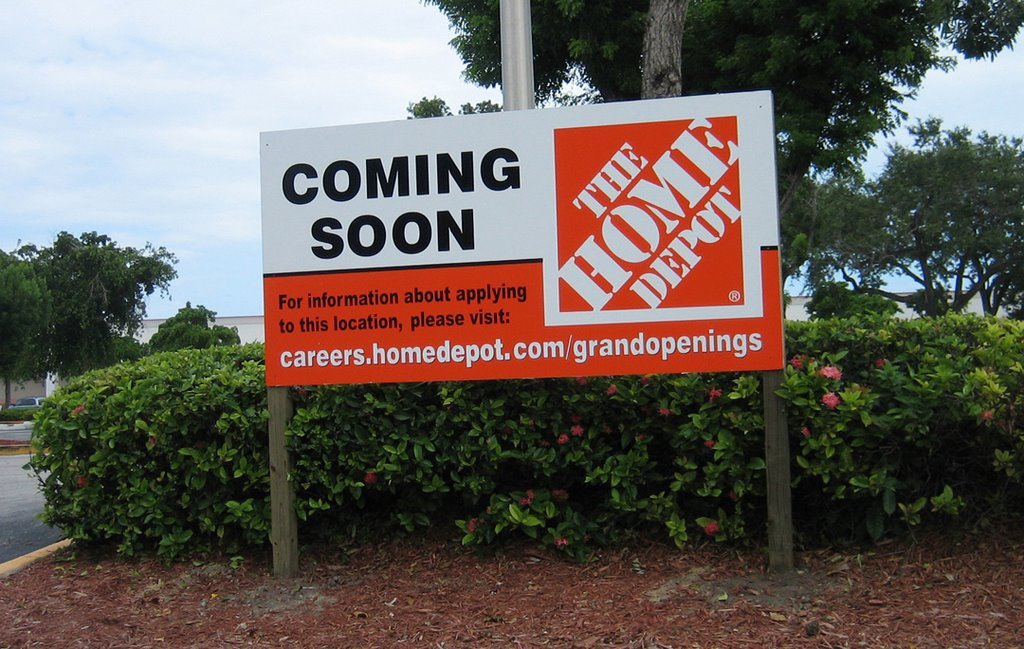 Home Depot Is Spiteful I Was Shocked Today To See This Sign Outside The Grove Gate Shopping Center