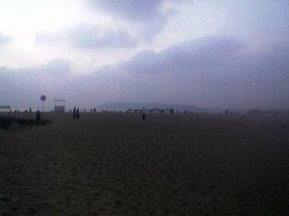 Miramar Beach auringonlaskun jälkeen