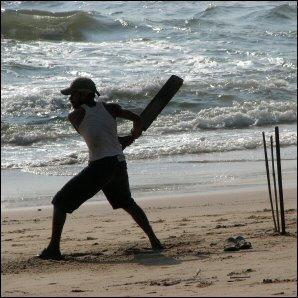 Krikettiä Goan rannalla