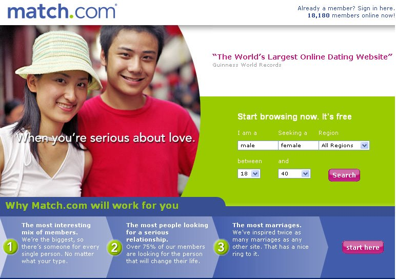 online largest dating