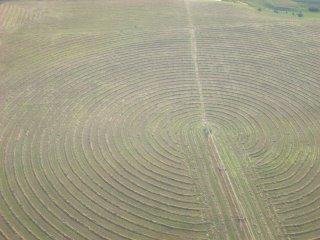Crop Circles? Nope, Just Hay
