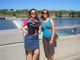 Angele and I at the Weir