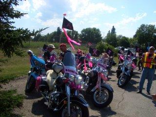 The Boobs On Bikes gang