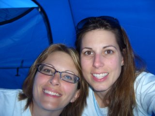 All Cozy in our tent