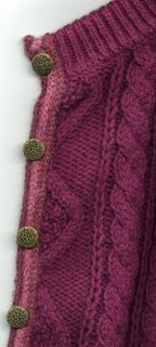 recycled sweater: raspberry cardigan