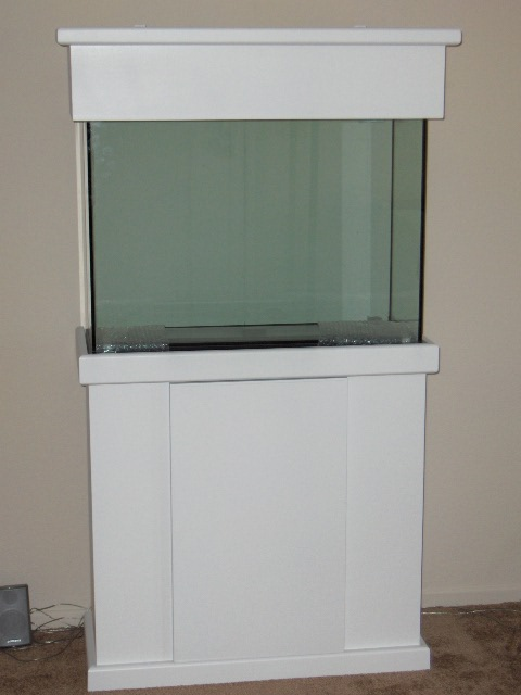 Kc Aquarium Stand Amp Canopy 29 Gallon White Finished