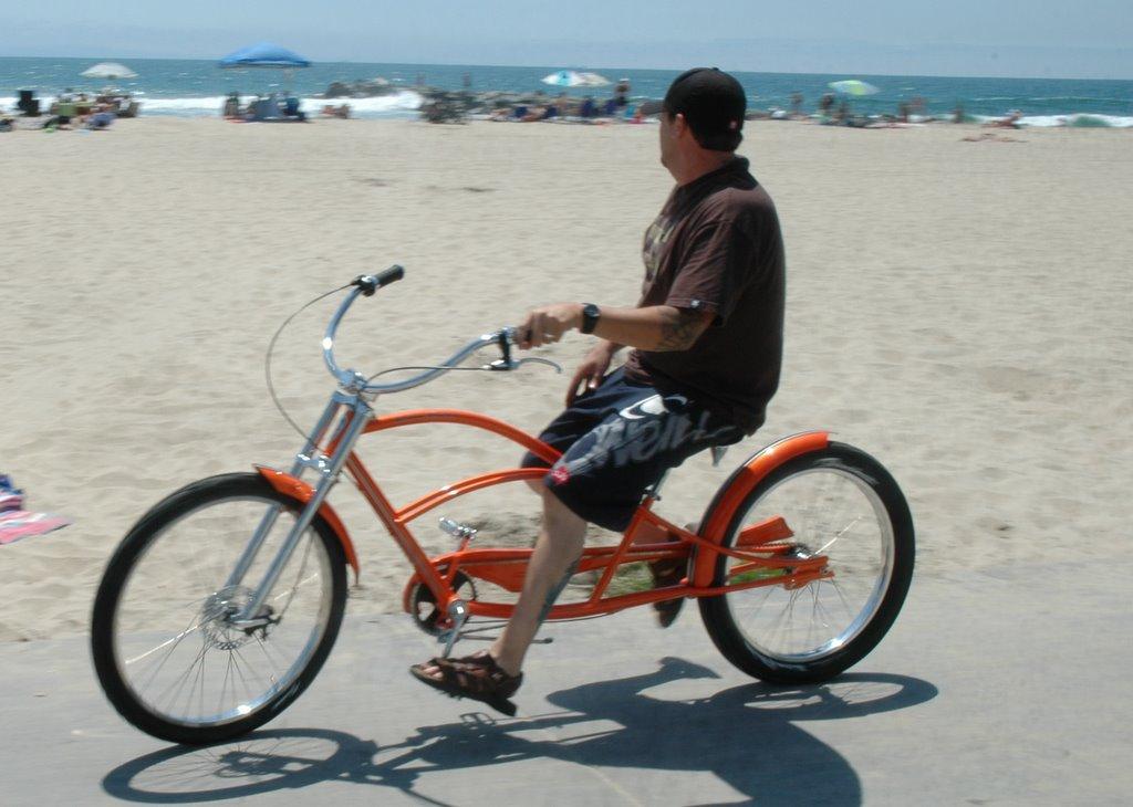 Lowrider Bikes At The Beach