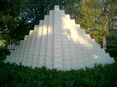 Four-Sided Pyramid (sculpture) by Sol LeWitt