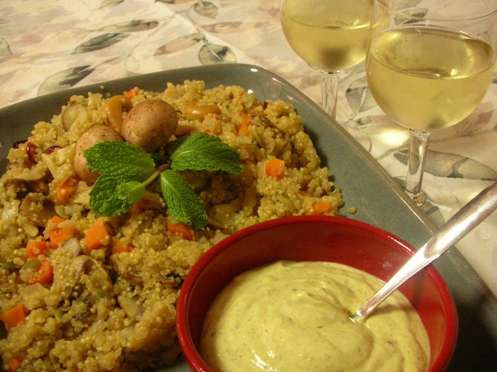 Day 271: Oh Baby! Quinoa Pilaf with Raita ♥   A Veggie ...