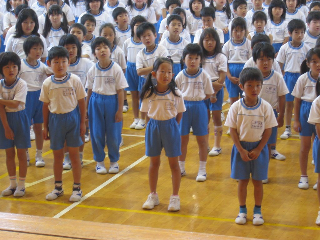 A French Teacher In Japan Elementary School Assembly