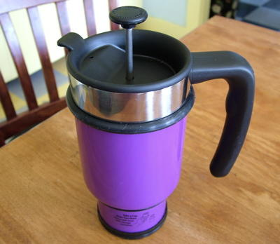 Take An Insulated Coffee Mug And Build In A French Press Thus Making It Portable Not Bad Idea Really Since Presses Tend To Be Made