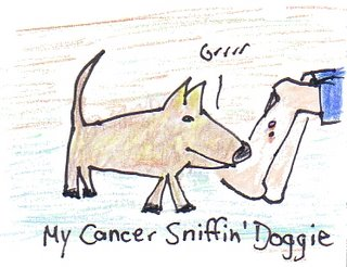 He'd have to be a cute cancer-sniffin' doggy