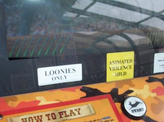 Video game: Loonies Only; Animated Violence Mild