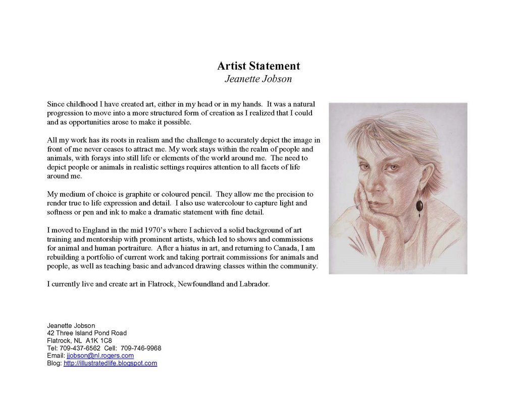 writing an artist statement tips I've been developing a page devoted to examples of artists statements on art business info for artists  how to write an artist statement (tips.