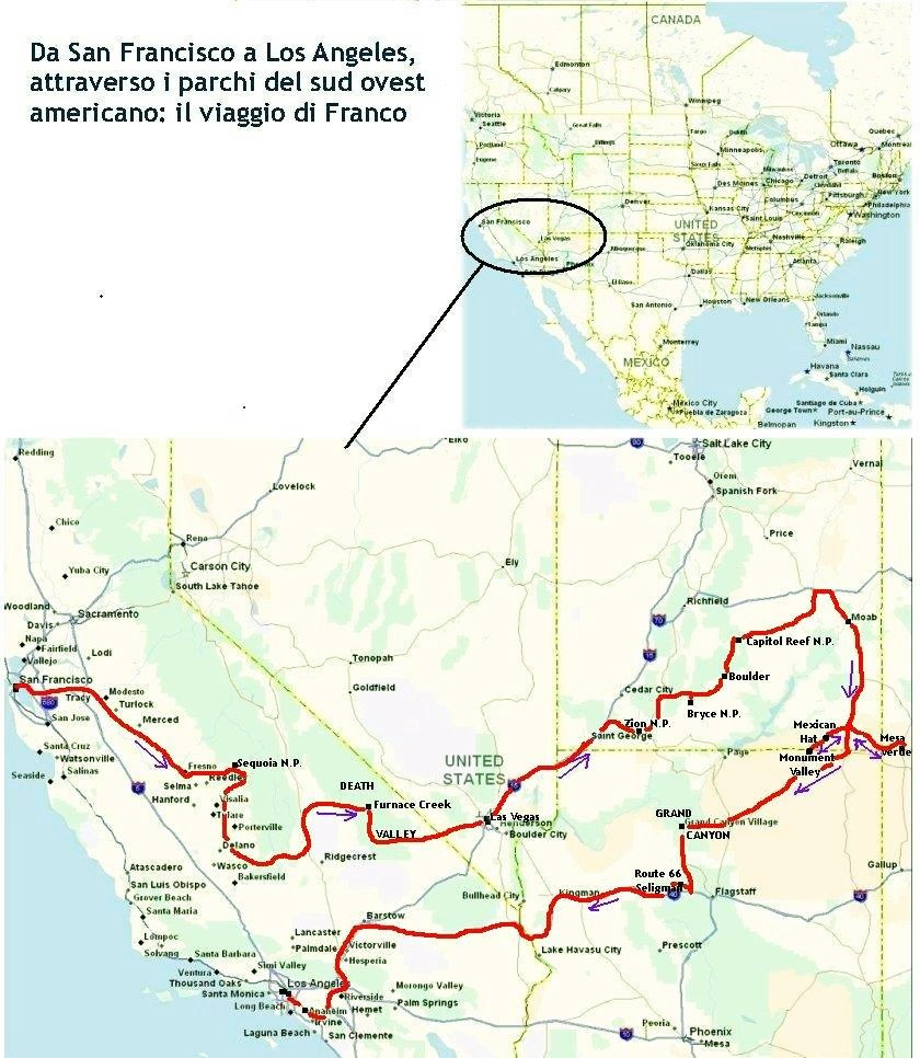 America Occidentale Cartina.Cartina America Ovest