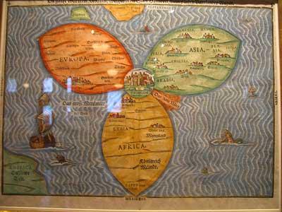 Jerusalem Center Of The World Map.Star Of David Jerusalem At The Center Of The World