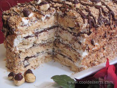 Hazelnut And Cranberry Meringue Cake Recipe