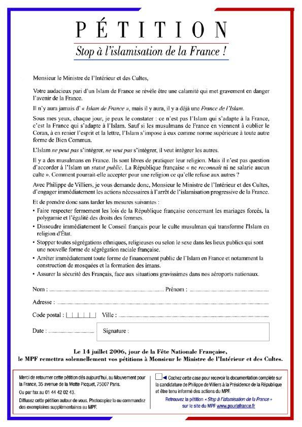 Galliawatch Petition Against Islamization