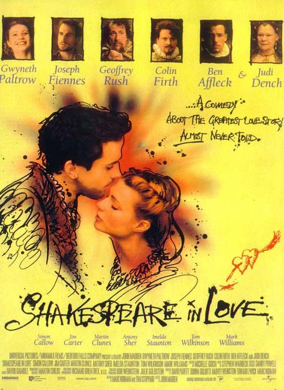 Image result for movie poster shakespeare in love