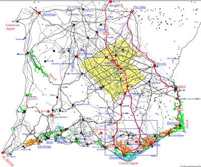 mapa estradas alentejo Imprompto: MAPAS DAS VIAS ROMANAS (SUL DE PORTUGAL) mapa estradas alentejo