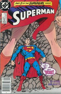 Is there anything creepier than seeing Superman between Supergirl's legs?