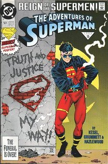 The adventures of Superboy when he was a Man.