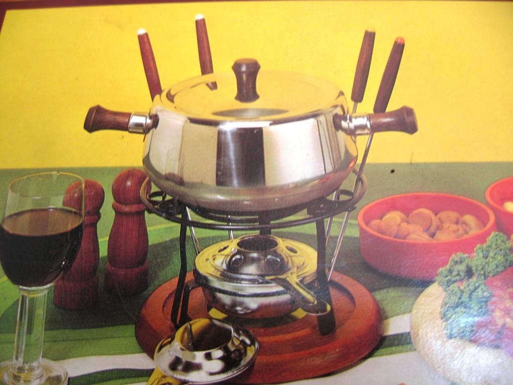 fondue kött olja