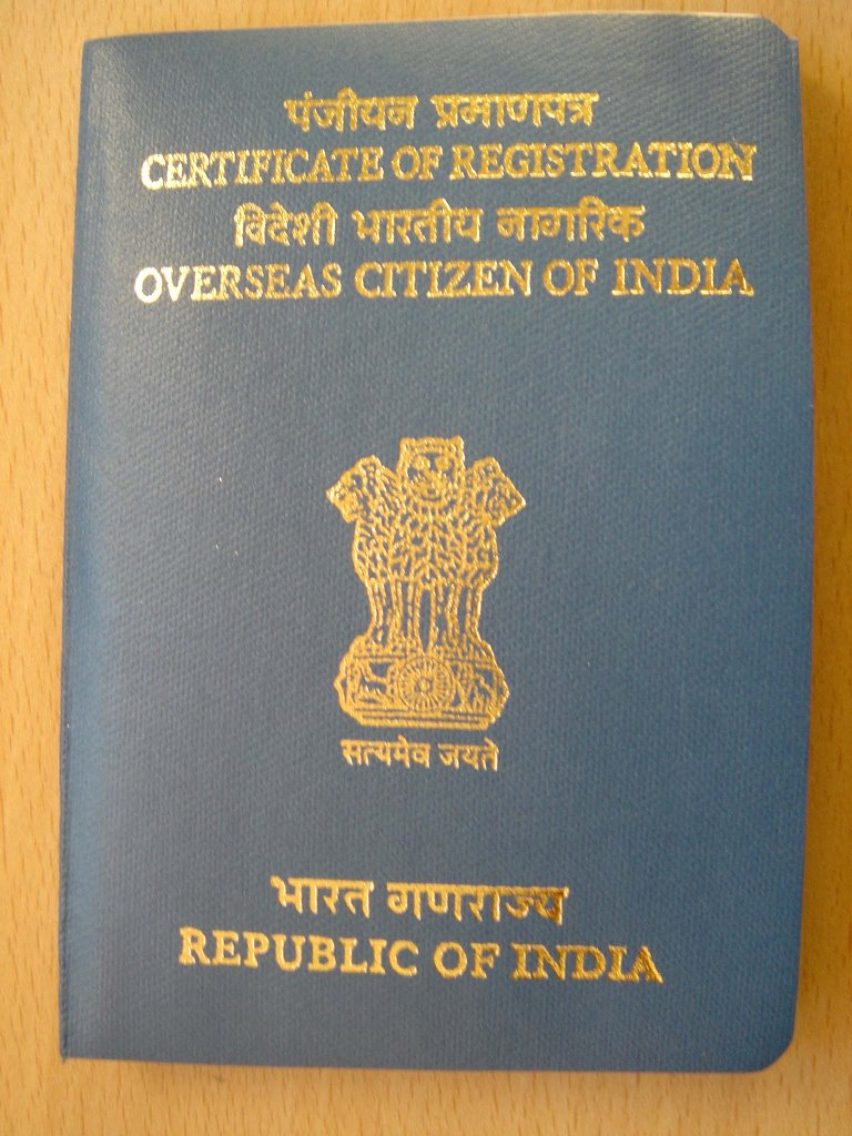 Overseas Citizen of India card to be applied within a week