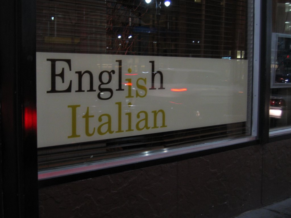 English In Italian: English Is Italian – New York, NY