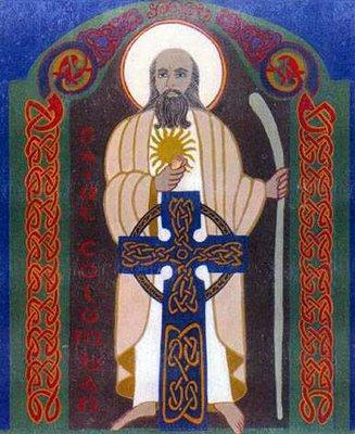 saint Colomban de Luxeuil et Bobbio, icône style celtique