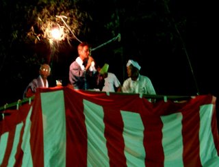 Bonodori singers and drummer