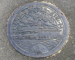 Hirata City, Shimane, manhole cover.