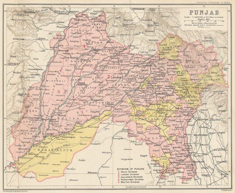 Spherical Musings: Pre-partition Map of Punjab