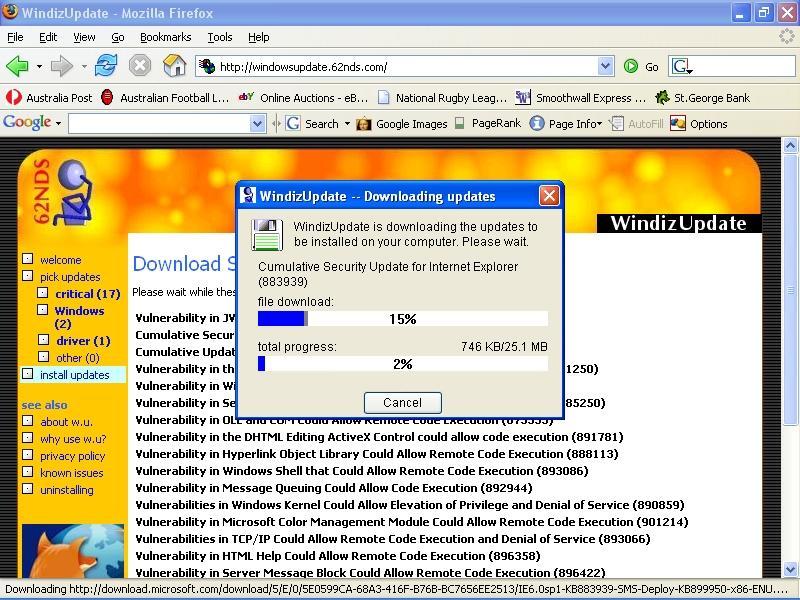 Samuel's Blog » Screenshot of WindizUpdate
