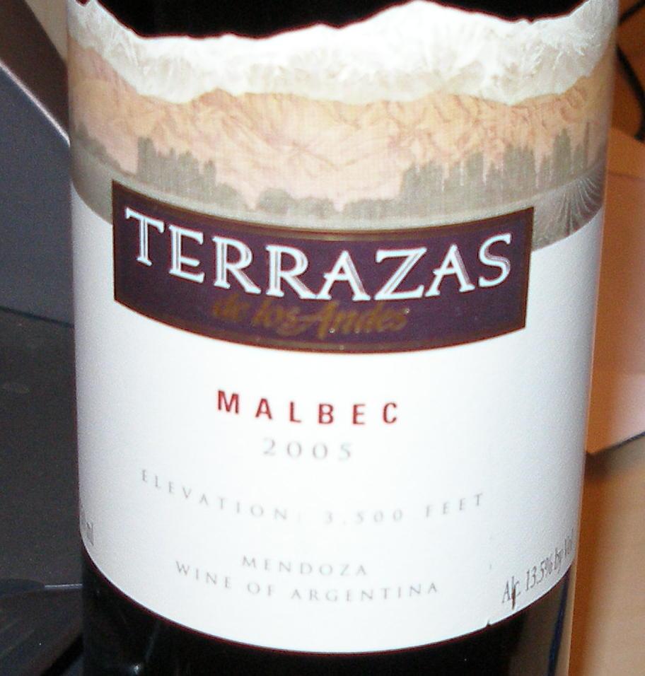 The Wineauxs 2005 Terrazas De Los Andes Malbec