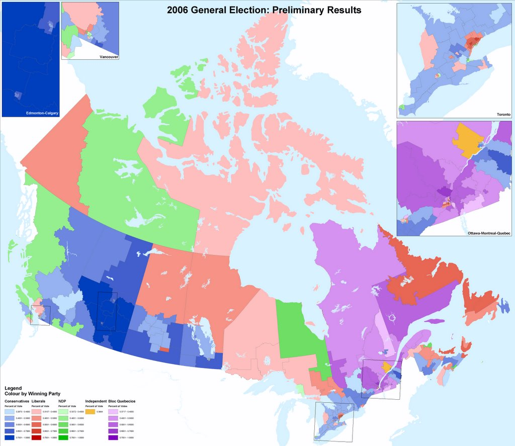 Canada Election Map 2006 Cartography: Canada Election Map 2006