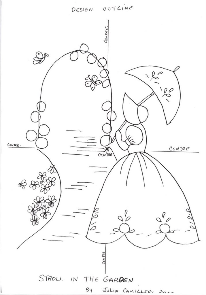 Julia S Place Crinoline Lady Design Sheet