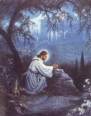 In between april 2006 - Jesus praying in the garden of gethsemane ...
