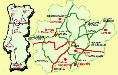 mapa de portugal tondela Beijós XXI (2005 2009): Caldas de SanGemil mapa de portugal tondela