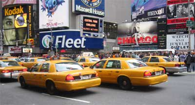 Checker Cab London >> My Ford Dreams Classic: Ford pushes new Escape Hybrids as NYC Taxis