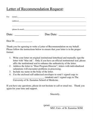 eras letter of recommendation request