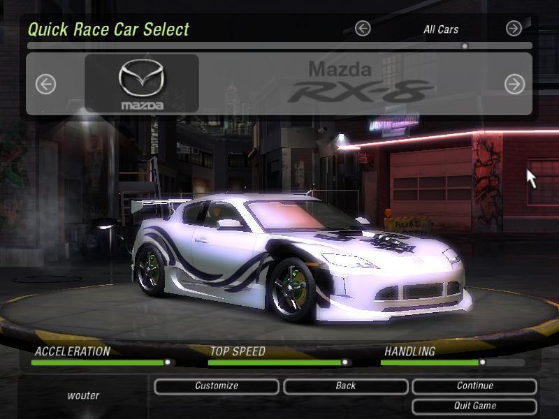 Rx 8 Need For Speed Underground Showroom