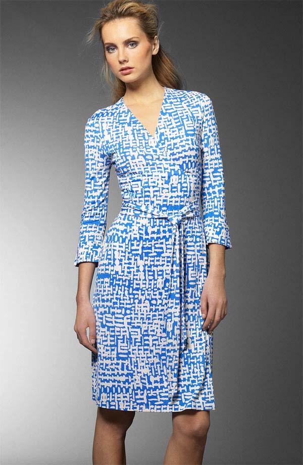 Diane Von Furstenberg Pixel Julian Wrap Dress