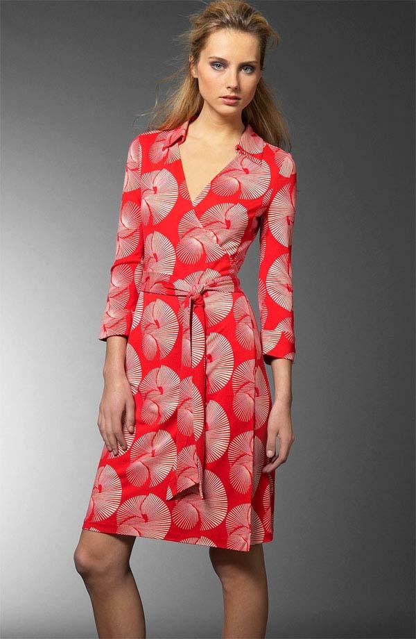 Diane Von Furstenberg Sundial Red Jude Wrap Dress